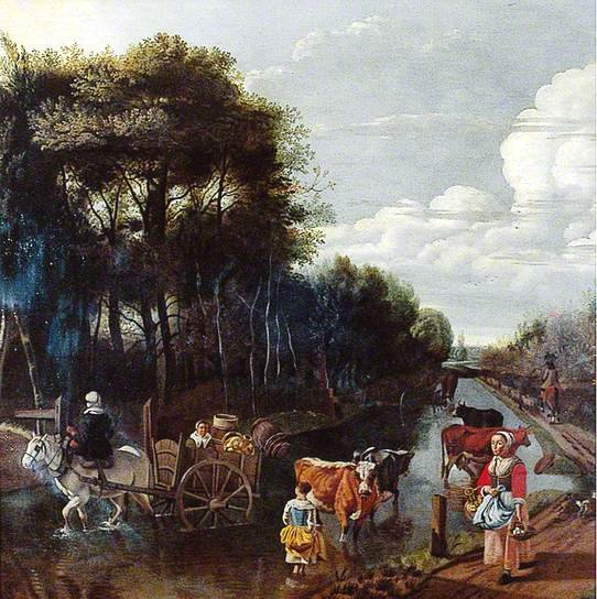 Landscape with a Road, a Cart and Figures by Jan Siberechts Norfolk Museums & Archaeology Service (Norwich Castle Museum & Art Gallery)