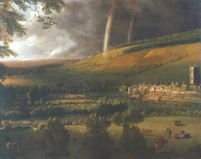 Landscape with Rainbow, Henley-on-Thames by Jan Siberechts (c.1690)
