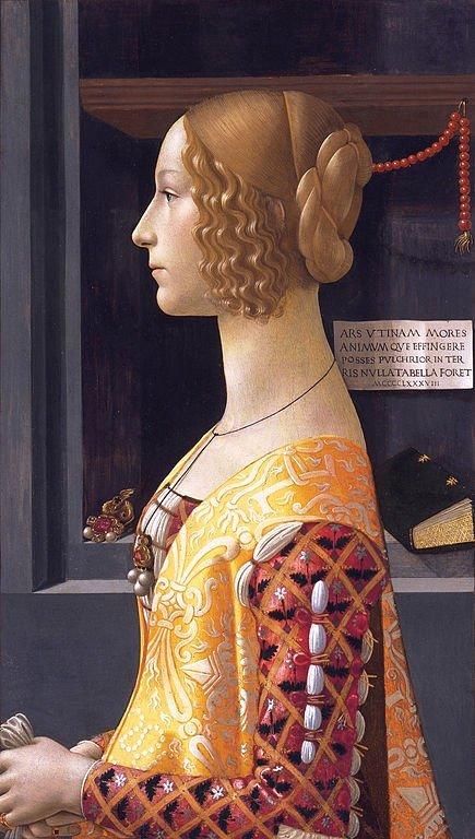 Portrait of Giovanna degli Albizzi Tornabuoni by Domenico Ghirlandaio (1488)