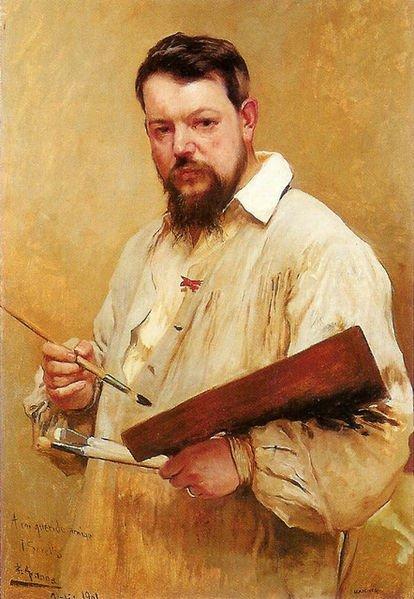 Portrait of Joaquín Sorolla by José Jiménez Aranda (1901)