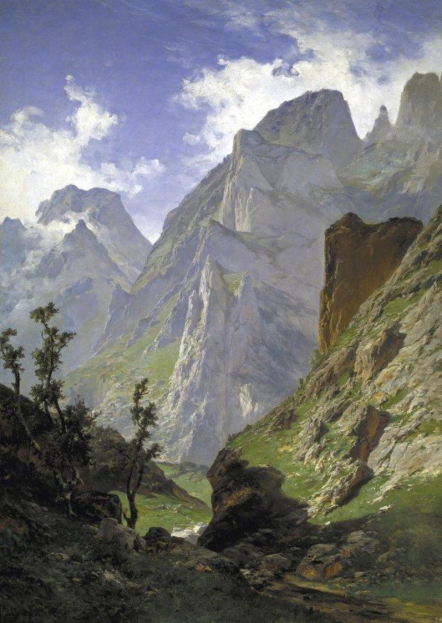 The Mancorbo Canal in the Picos de Europe by Carlos de Haes (1876)