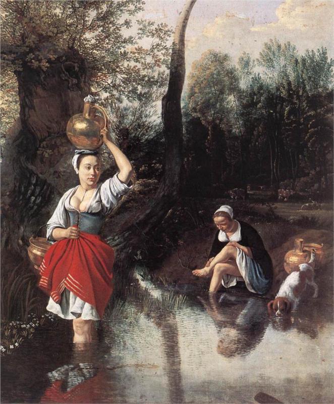 The Wager by Jan Siberechts (1665) Koninklijk Museum voor Schone Kunsten, Antwerp