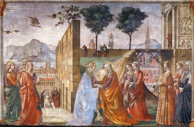 Visitation by Domenico Ghirlandaio