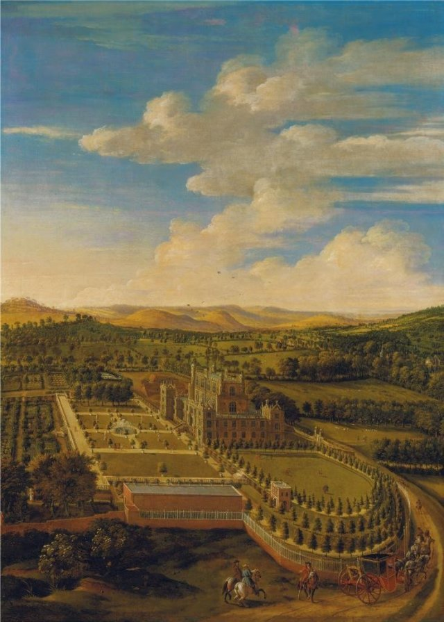 Wollaton Hall and Park by Jan Siberechts (1695)