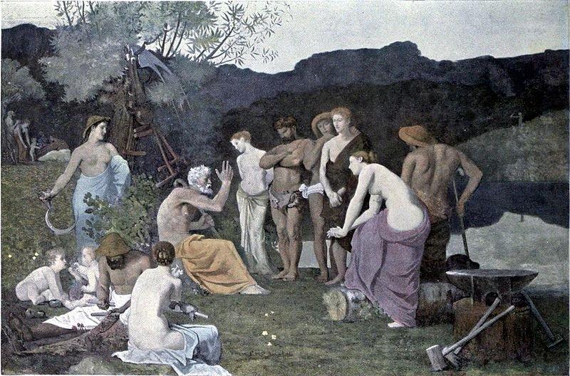 Le Repos (Repose) by Pierre Puvis de Chavannes (1863)