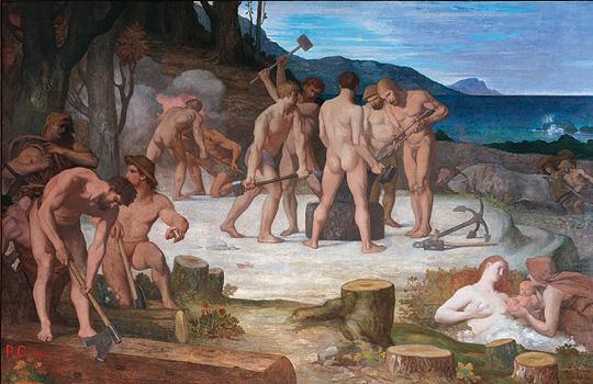 Le  Travail (Work) by Pierre Puvis de Chavannes (1863)