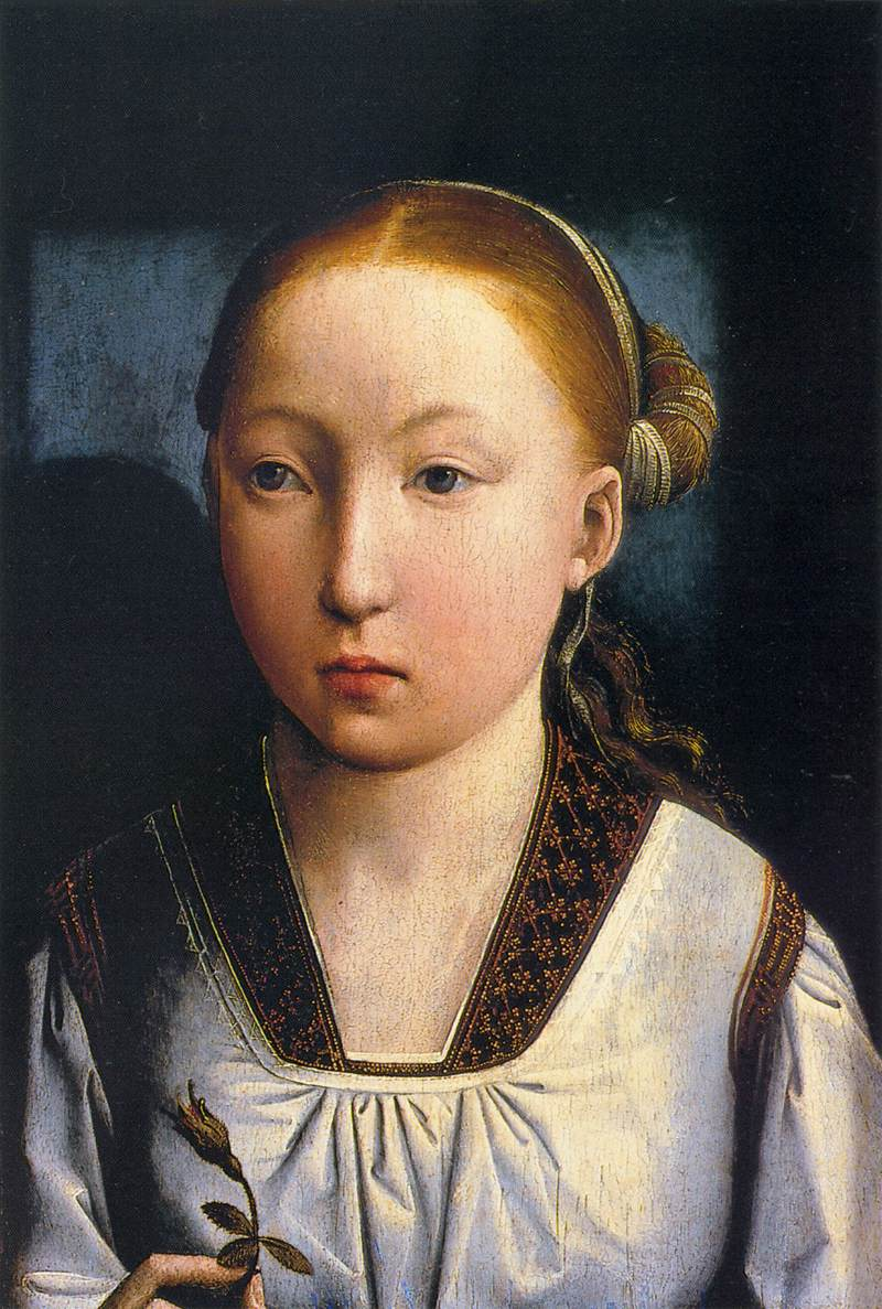 Portrait of an Infanta, Catherine of Aragon by Juan de Flandes (c.1496)