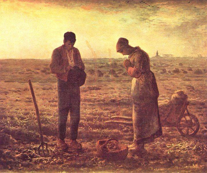 The Angelus by Jean-François Millet (1859)