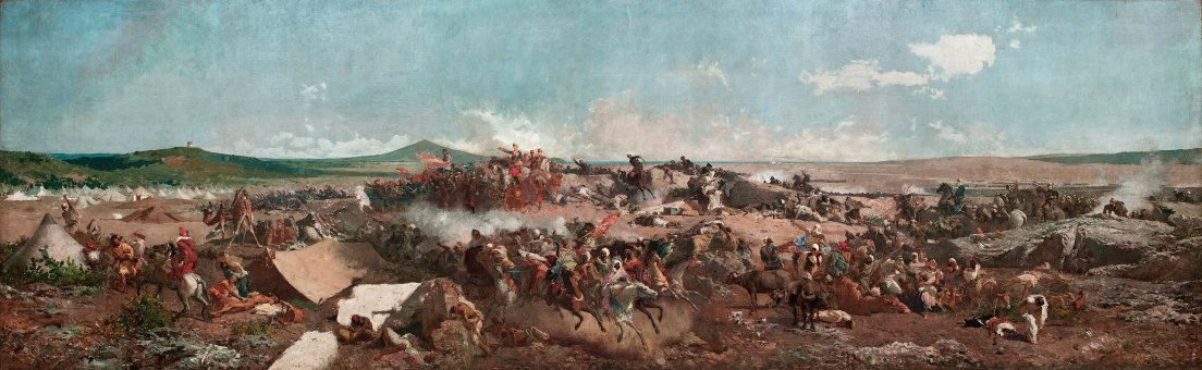Battle of Teutan by Mariano Fortuny