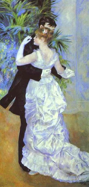 Dance in the City by Renoir (1883) (featuring Suzanne Valadon and Paul Lhôte)