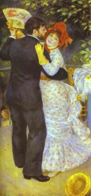Dance in the Country by Renoir (1883) (featuring Aline Charigot and Paul Lhôte