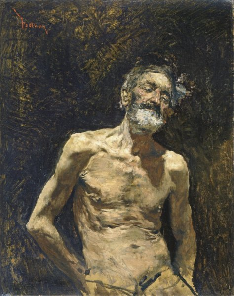 Elderly Man in the Sun by Mariano Fortuny (1871)
