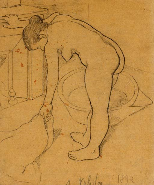 Nu à la toilette by Suzanne Valadon (1892)