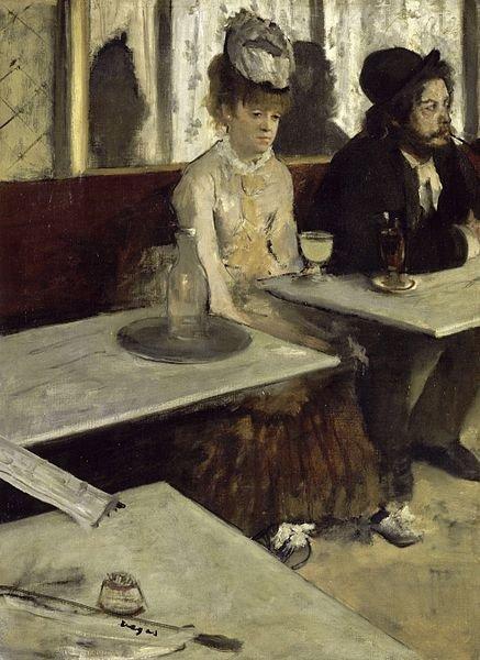 L'Absinthe by Degas (1873)