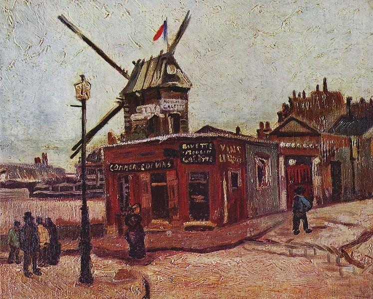Le Moulin de Galette by Vincent van Gogh (1886)