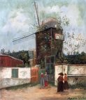 The Moulin la Galette (c.1918) by Maurice Utrillo