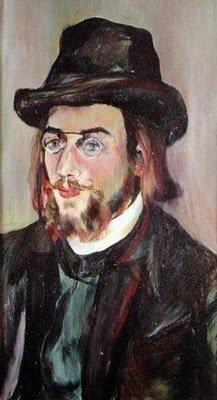 Portrait of Erik Satie  by Suzanne Valadon (c.1892)
