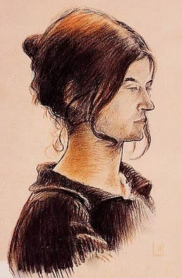 Portrait of His Mother Suzanne Valadon by Maurice Utrillo