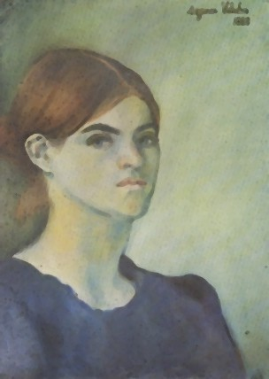 Self portrait by Suzanne Valadon (1883)