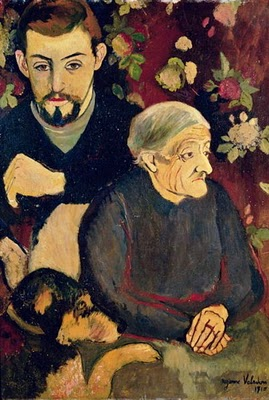 Portrait of her Son Maurice Utrillo, his Grandmother Madeleine and the Dog, by Suzanne Valadon (1910)