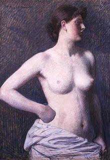 Suzanne Valadon by Pierre Puvis de Chavannes (1880)