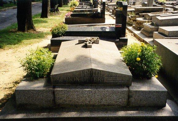 The grave of Suzanne Valadon at the Cimetière parisien, St. Ouen.