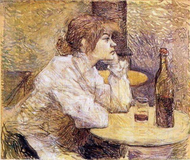 The Hangover; Portrait of Suzanne Valadon by Henri de Toulouse Lautrec (c. 1888)