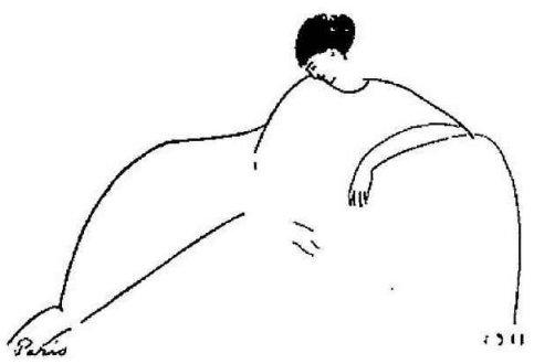 Anna Akhmatova.by Modigliani (c. 1911)