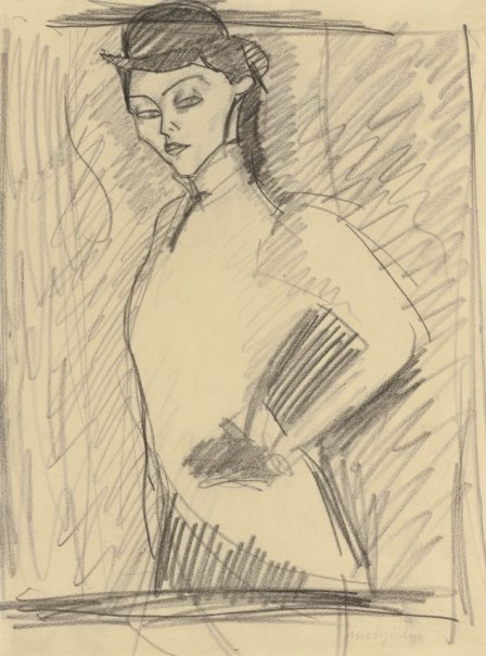 Étude pour L'Amazone by Modigliani