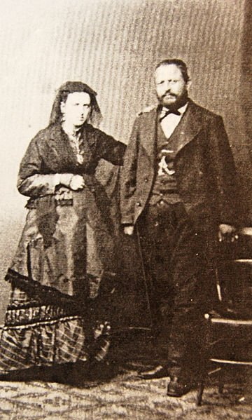 Eugene Garsin and Flaminio Modigliani parents of Amedeo Modigliani in a picture taken c.1884 a few months before the birth of Amedeo