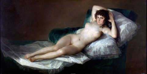 La Maja Desnuda by Goya (c1800)