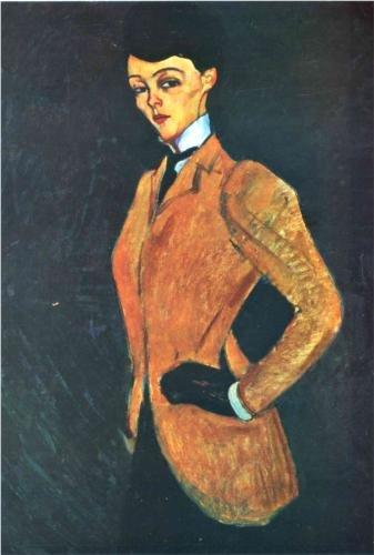 L'Amazone by Modigliani (1909)