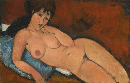 Nude on a Blue Cushion by Modigliani (1917) National Gallery of Art, Washington DC