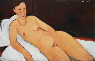 Nude with Coral Neclace by Modigliani (1917) Allen Memorial Art Museum Oberlin College, Ohio