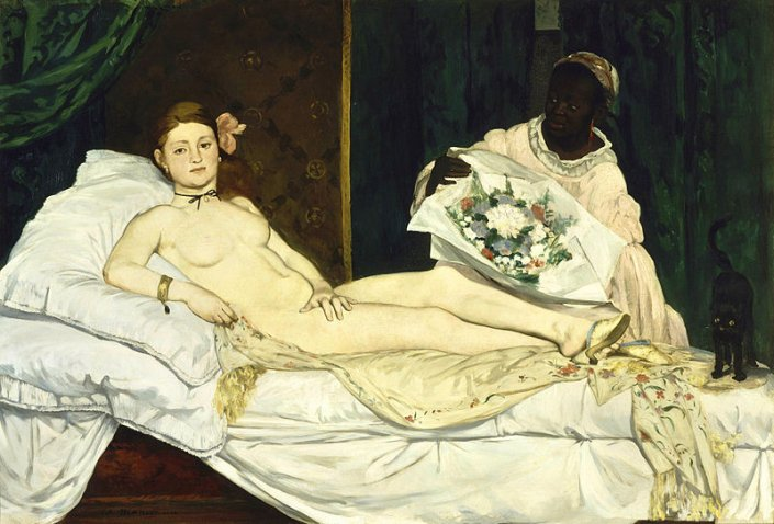 Olympia by Edouard Manet (1863)