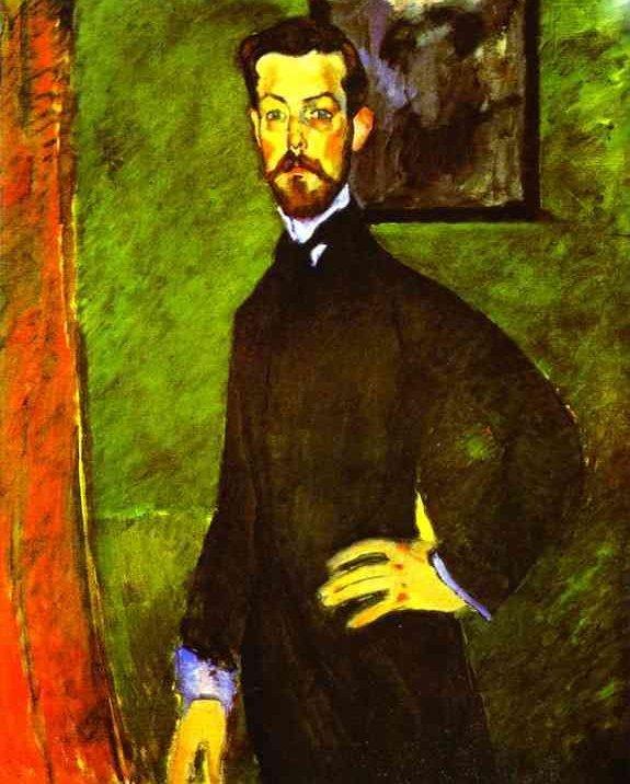 Portrait of Doctor Paul Alexandre by Modigliani (1909)