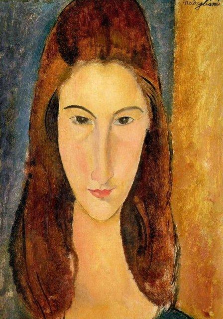 Portrait of Jeanne Hébuterne by Modigliani (1919)