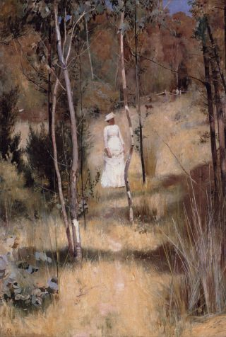 A Summer Morning Tiff by Tom Roberts (1886)