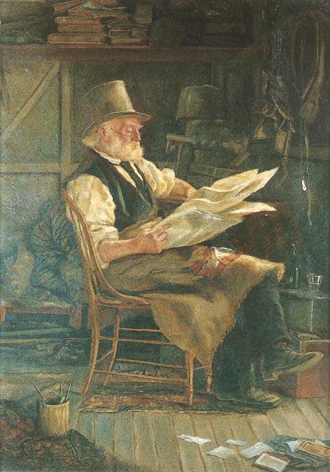 An Old Politician by Frederick McCubbin (1879)