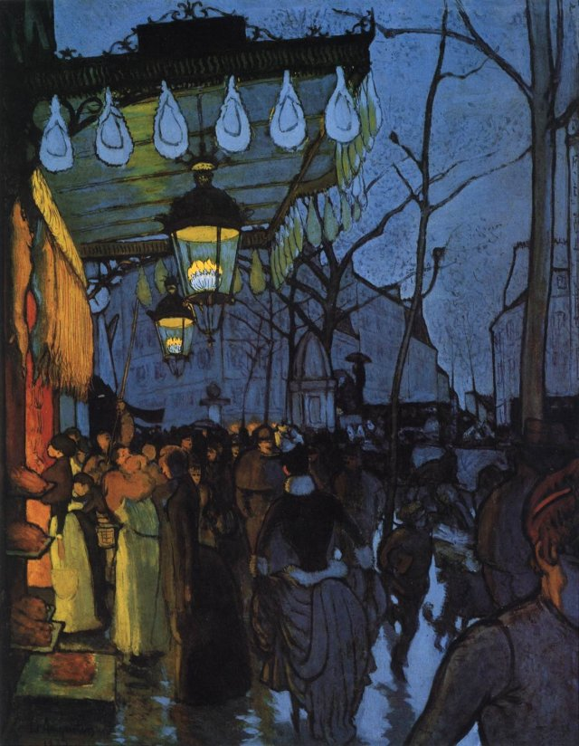 Avenue de Clichy - Five O'Clock in the Evening by Louis Anquetin (1887)