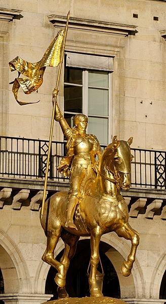Equestrian statue of Joan of Arc by Emmanuel Frémiet (1899)