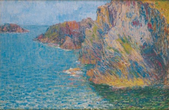 La Pointe de Morestil par mer calme by John Peter Russell (1901)