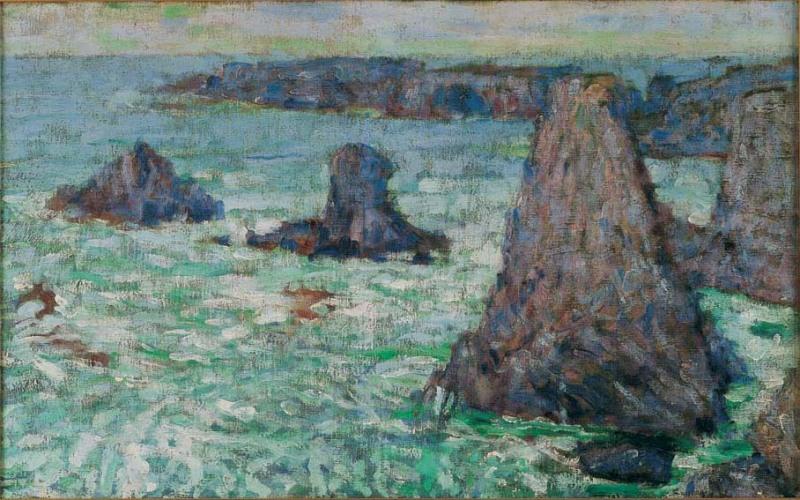 Les Aiguilles, Belle-Île by John Peter Russell ((1890)