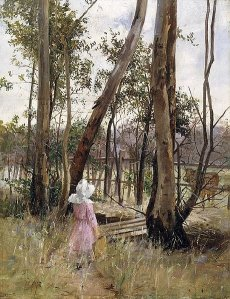 Obstruction, Box Hill by Jane Sutherland (1887)