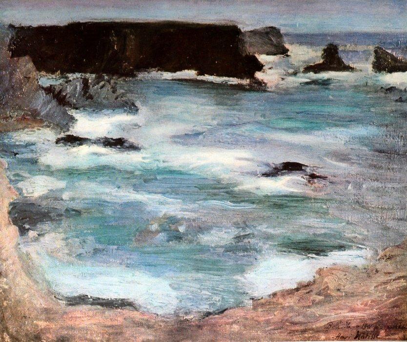 ROCHERS À BELLE-ÎLE by Matisse (1896)