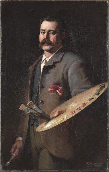 Self portrait by Frederick McCubbin (1886)