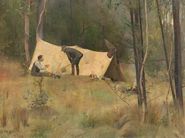 The Artists' Camp by Tom Roberts (1886)