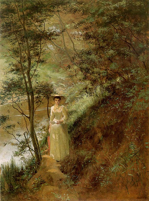 The Letter by Frederick McCubbin (1884)