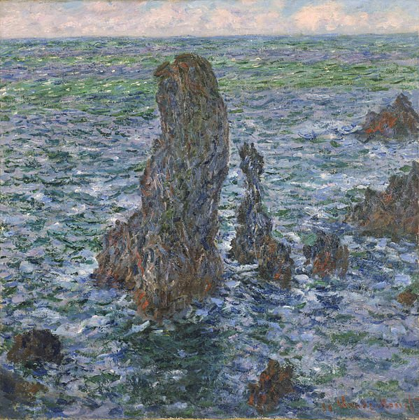 The Pyramides at Port-Coton by Monet (1886)
