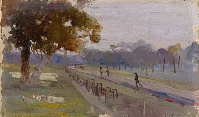 Windy and Wet by Arthur Streeton (1889)